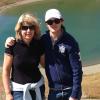 Con mio figlio Alessandro sopra Cesana.